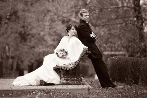 свадебное фото в стиле ретро