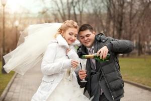 свадьба в декабре это холодно !