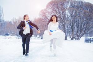 зимняя свадьба , сине белая свадьба , сине белая свадьба фото , оформление синей свадьбы