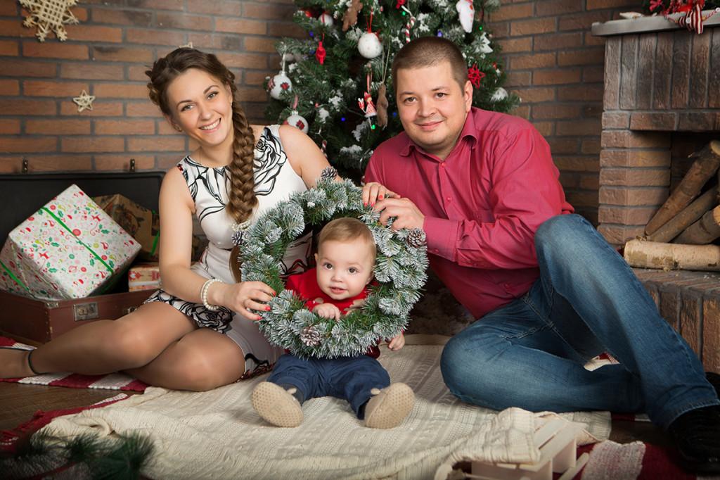 Семейная новогодняя фотосессия